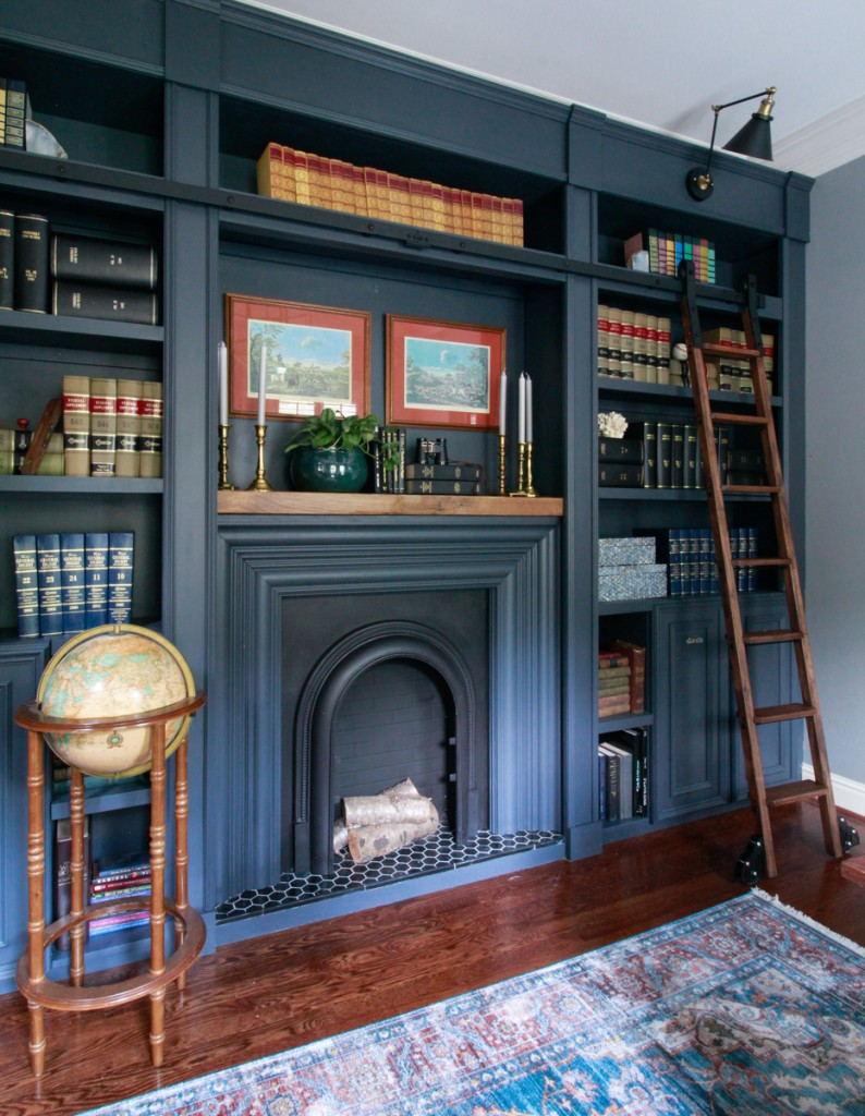 Leslie, of Deeply Souther Home, reveals her library office