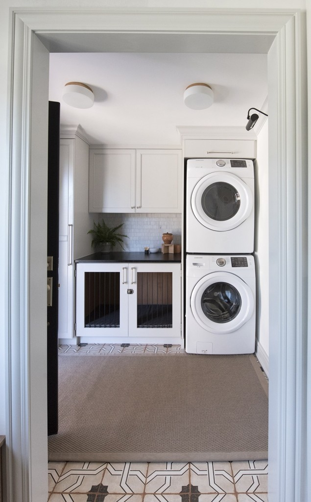 Sarah Gibson, of Room for Tuesday, reveals her stunning laundry room for the One Room Challenge