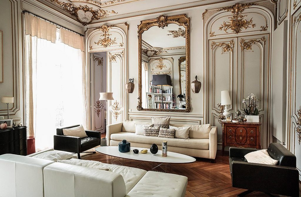 Capucine Plume's Haussmann apartment shows off France's ornate and luxurious style.